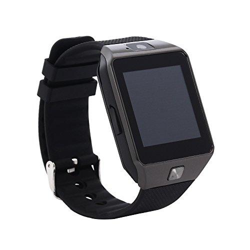 EMEBAY - Montre Intelligente Bluetooth / Montre connectée Bluetooth Smart Watch avec caméra pour Huawei, Xiaomi, Nexus 6, HTC, Sony, Samsung S5 / S6 / S6 Bord / Note 2/3/4 et d'autres Android smartphones DZ09 Noir + Argent