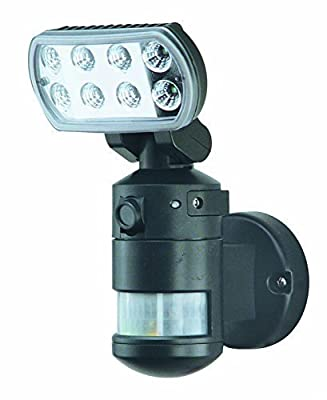 Versonel Nightwatcher Pro Motorized LED Security Motion Tracking Flood Light with Color Camera VSLNWP702B Black