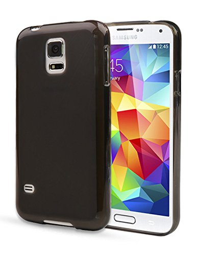 Note2 Case, Aqua Jelly Cover, Samsung Galaxy Note 2, Soft Thin Mobile 5 Colors Ultra Slim Fit (At&T, Verizon, Sprint, T-Mobile) Tpu - Retail Packaging (Light Black)