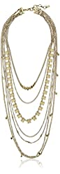 "Lucky Brand Major Lucky Layer Gold Necklace, 20"" + 2"" Extender"