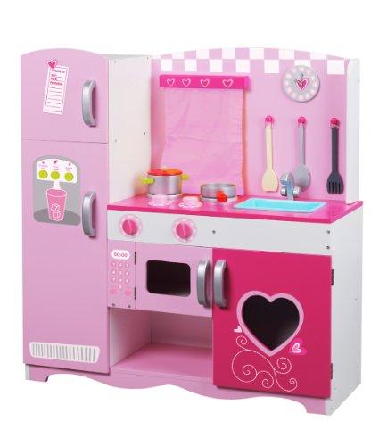 Classic World Wood Kitchen, Pink