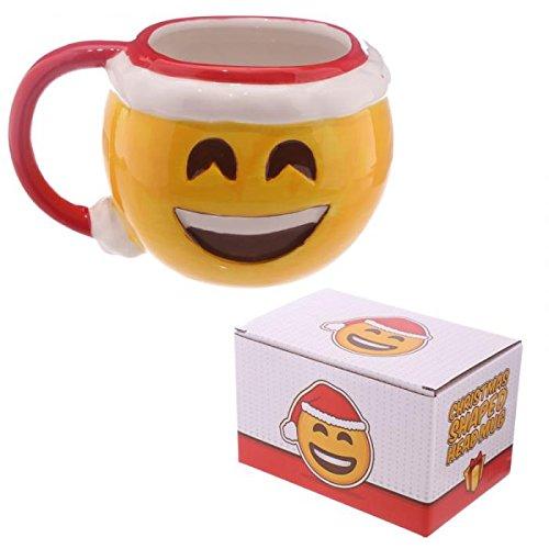 Tazza mug colazione Emoticon Emoji Sorriso natalizio di Natale