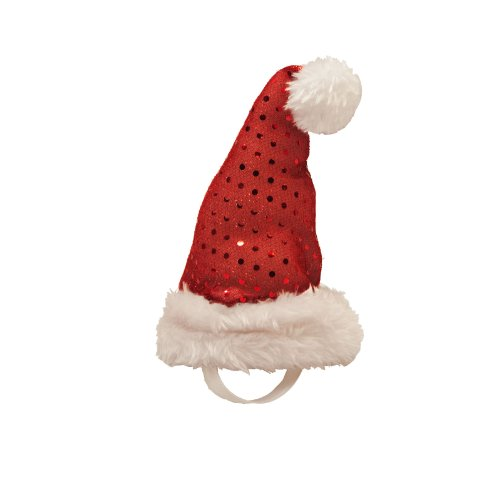 Outward Hound Kyjen  2817 LED Headband Plush Santa Hat for Dogs, Small, Red