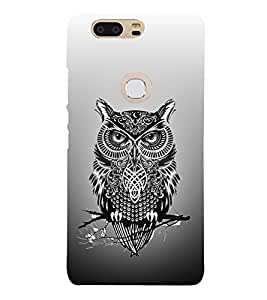 Indian Owl Tatto 3D Hard Polycarbonate Designer Back Case Cover for Huawei P8