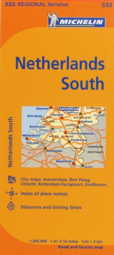 Michelin Netherlands: South Map 532 (Maps/Regional (Michelin))