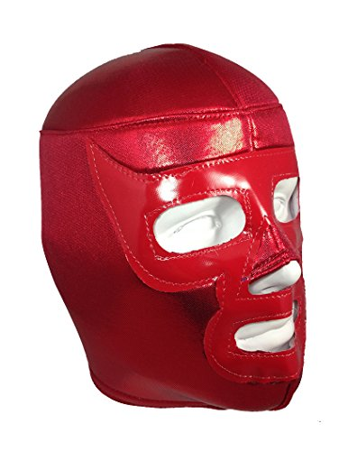 RED RAMSES Adult Lucha Libre Wrestling Mask (pro-fit) Halloween Costume Wear - Red