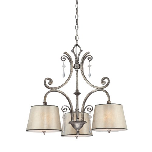 quoizel kd5103mm kendra 3 light chandelier with oyster mica shades