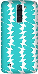 Blue Wavy Lines Printed Back Cover Case For LG K7