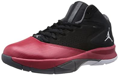 Nike Jordan Men's Jordan Court Vision 99 Black/White/Gym Red/Dark Grey Basketball Shoe 8 Men US