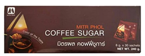 MITRPHOL COFFEE SUGAR 8G. PACK 30SACHETS (Gloria Jeans Whole Bean Coffee compare prices)