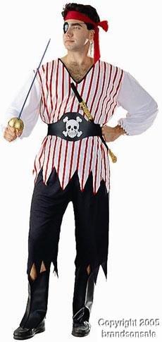 Adult Classic Pirate Man Halloween Costume