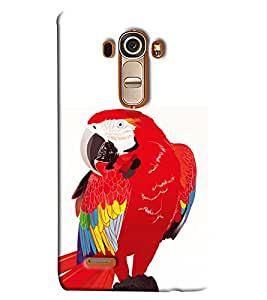 Blue Throat Red Parrot Printed Designer Back Cover/Case For LG G4