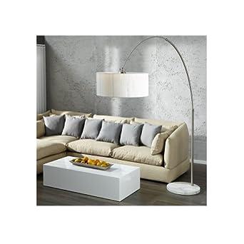 cag xxl design bogenlampe stehlampe luma weiss mit marmorfuss weiss 205 225cm. Black Bedroom Furniture Sets. Home Design Ideas