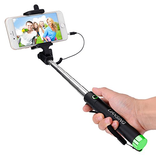 Cheapest Prices! Selfie Stick, LIANSING Monopods Wired Self portrait stick One-piece U-Shape ultra c...