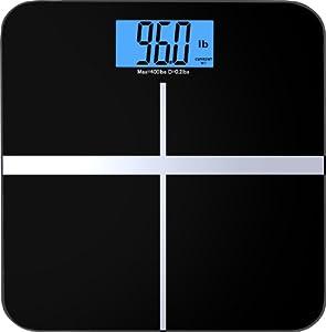 BalanceFrom - Pèse-personne à affichage numérique - Ecran XL bicolore - Noir