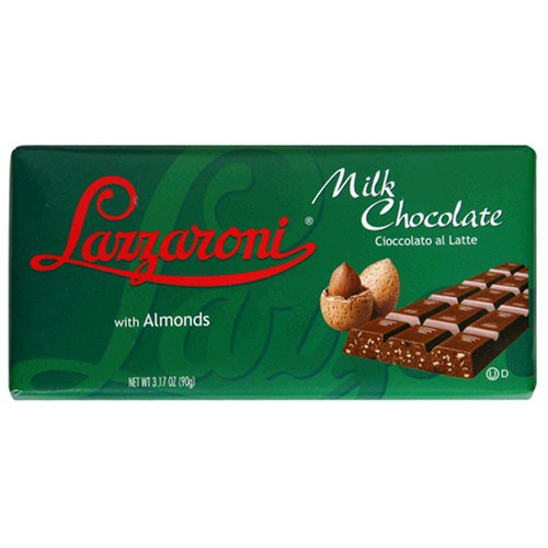 Buy Lazzaroni Milk Chocolate Bar with Almonds, 3.17-Ounce Bars (Pack of 12) (Lazzaroni, Health & Personal Care, Products, Food & Snacks, Snacks Cookies & Candy, Candy)