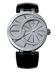 RSW Women's 6025.BS.L1.5.D1 Wonderland Round Stainless-Steel Diamond Patent Leather Watch