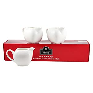 10 Strawberry Street Milk Jug Set of 3 - 4.75 in.