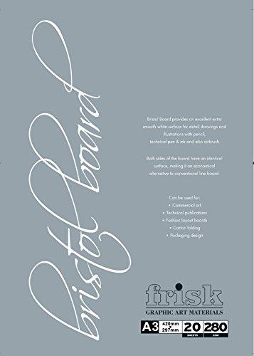 frisk-280-gm-bristol-board-a3-pad-20-sheets-white
