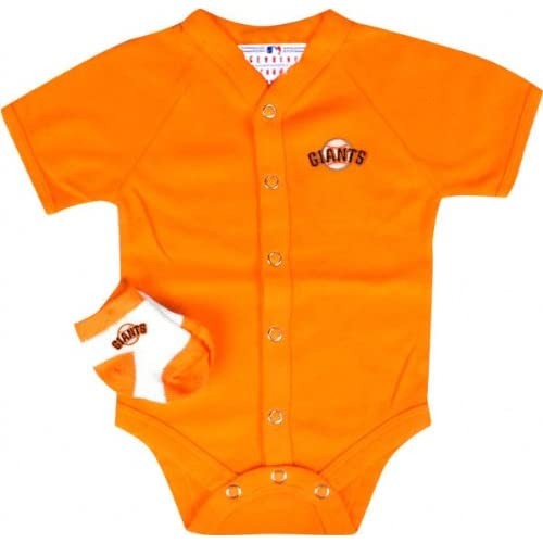San Francisco Giants Team Color Newborn/Infant Creeper and Bootie Set