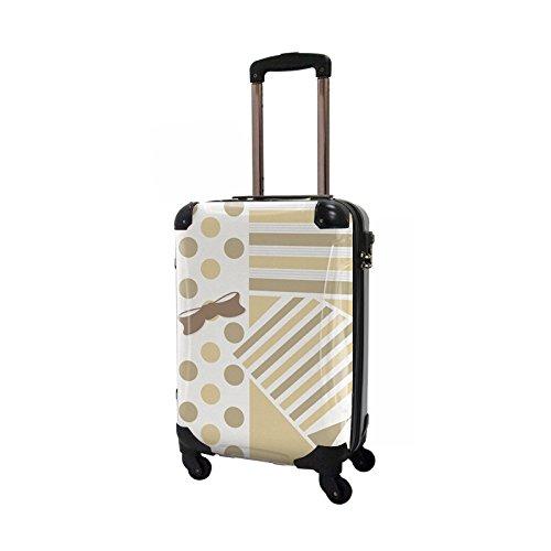 CARART(キャラート) アート スーツケース プロフィトロール ポポ (ベージュ) ジッパー4輪 機内持込 CRA02-012A