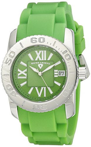 Swiss Legend Donna 10114-08 Commander Lime Green Dial Lime Green Silicone Orologio