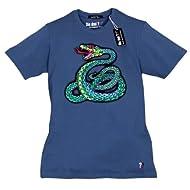 ??? T-Shirt, Singende Schlange blue (M). Drei Fragezeichen