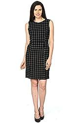 Annabelle by Pantaloons Women's Body Con Dress ( 205000005623534, Black, Large)