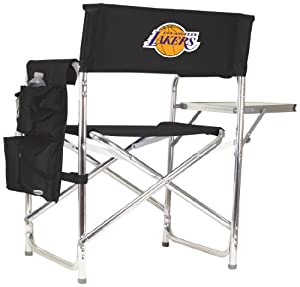 NBA Los Angeles Lakers Portable Folding Sports Chair, Black by Picnic Time