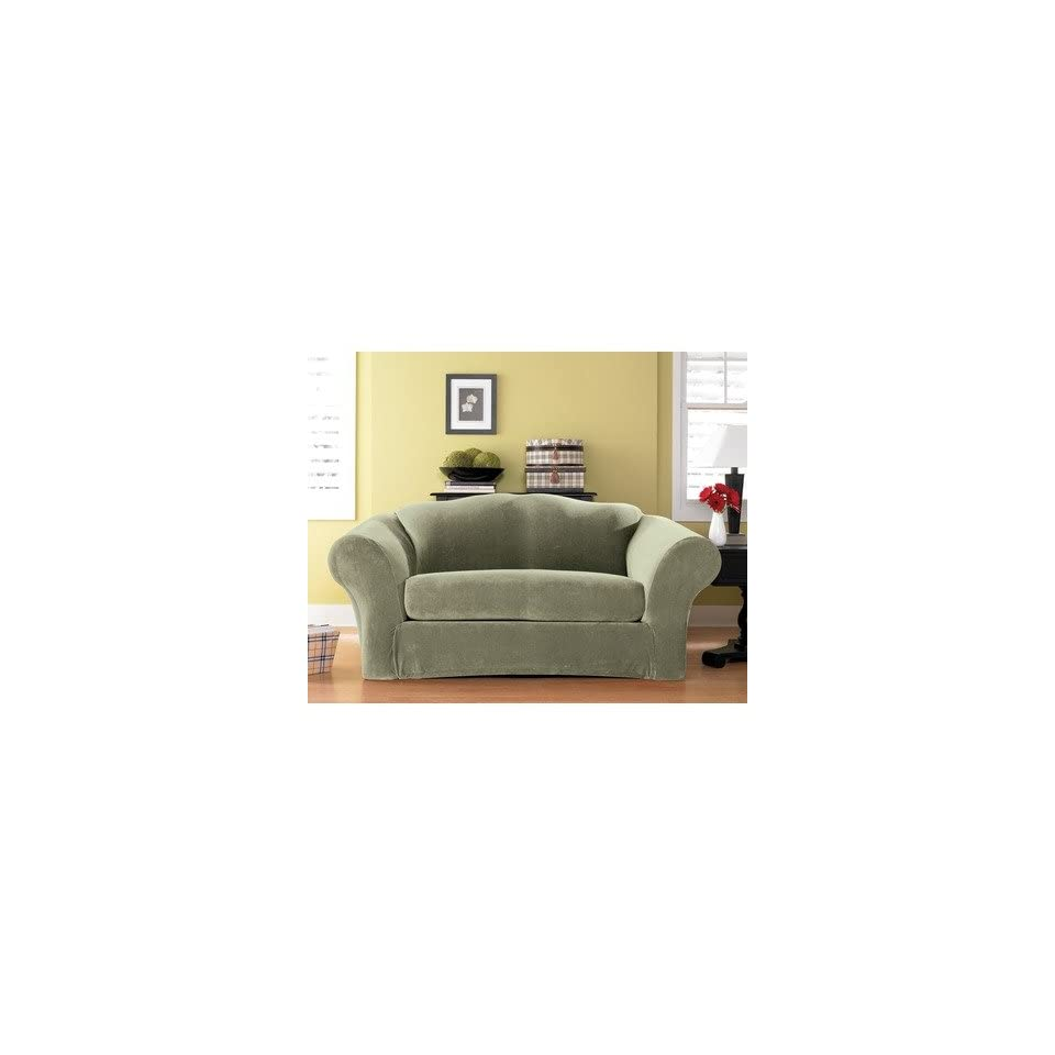 Stretch Pique Separate Seat Sofa Slipcover Box Cushion On Popscreen