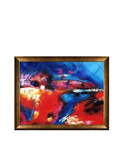 Pol Ledent Abstract 56452 Framed Hand-Painted Reproduction