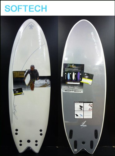 SOFTECH 【ソフテック】 サーフボード 4 SPEED QUAD-FISH 5'4 WHITE [BLKプラグ] ショートボード