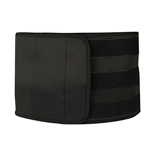 Norcho Adjustable Waist Trimmer Workout Enhance Ab Belt Medium Size 35.43 inch Black