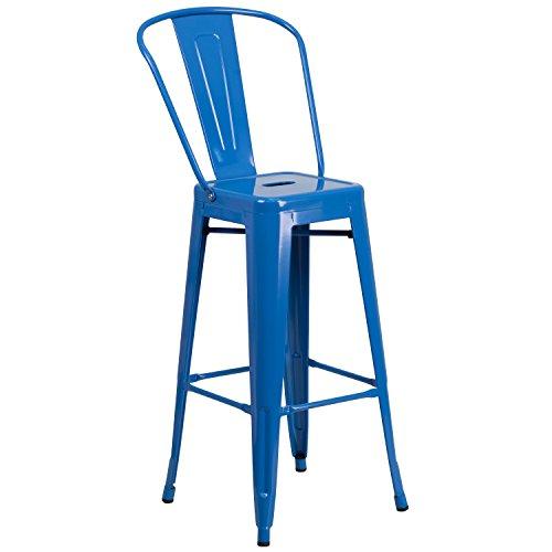 Flash Furniture High Metal Indoor-Outdoor Barstool, 30