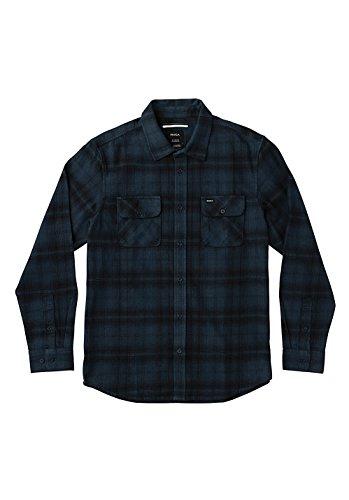 rvca-flannel-shirts-rvca-standoff-midnight