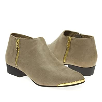city classifed womens flin closed pointy gold