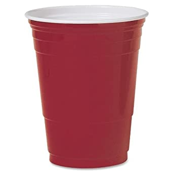 Solo Cup P16RLRCT Plastic Party Cold Cups, 16 oz., Red, 20 Bags of 50/Carton