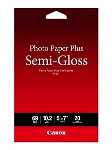 "Canon Photo Paper Plus Semi-Gloss 5"" x 7"" (20 Sheets) ( SG-201 5X7)"