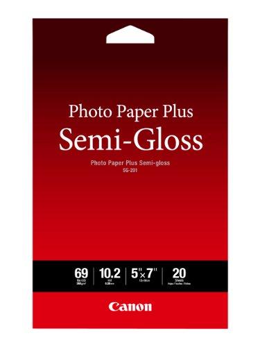 Canon Photo Paper Plus Semi-Gloss 5″ x 7″ (20 Sheets) ( SG-201 5X7)