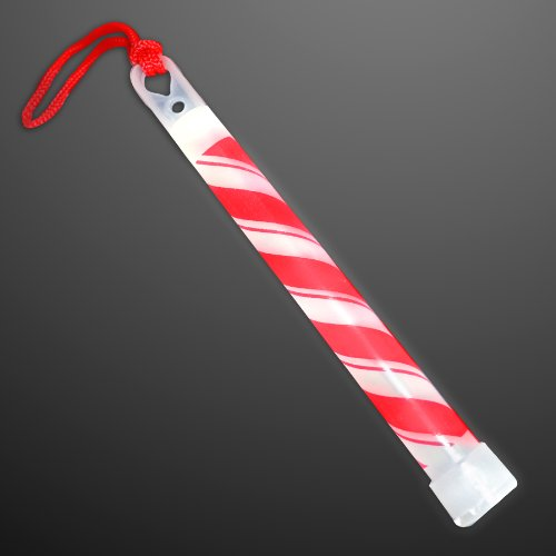 "25 Pack of Premium 6"" Candy Cane Glow Sticks - 1"