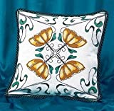 Art Nouveau Gold Flower Cushion Front Cross Stitch Kit