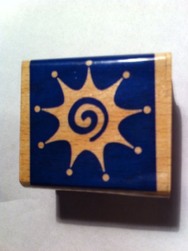 Rubber Stamp Burst with swirl inside