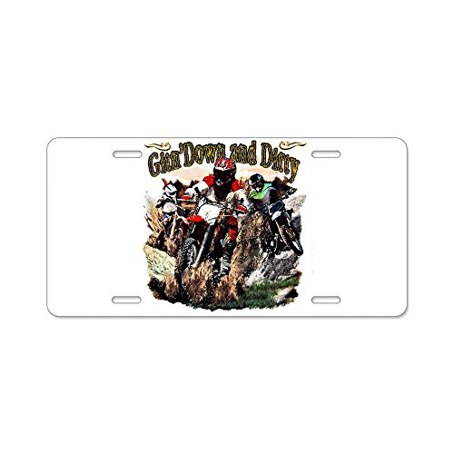 Aluminum License Plate Gitn' Down and Dirty Dirt Bikes (Dirty License Plate Frame compare prices)