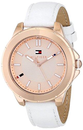 Tommy Hilfiger 1781432 KIMMIE Uhr Damenuhr Lederarmband Edelstahl 30m Analog weiss rosé