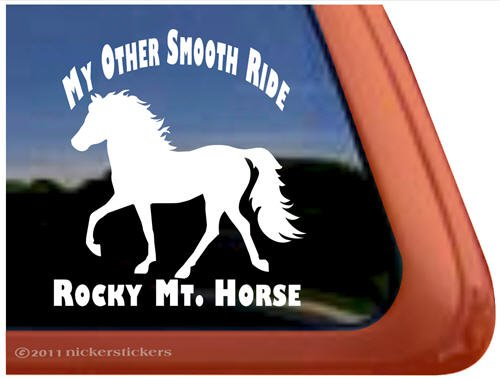 My Other Smooth Ride Rocky Mountain Horse Trailer Vinyl Window Decal Sticker front-482746
