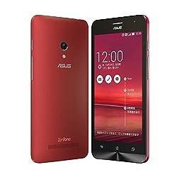 【国内正規品】ASUSTek ZenFone5 ( SIMフリー / Android4.4.2 / 5型ワイド / microSIM / 16GB / LTE / レッド ) A500KL-RD16