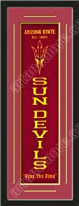 Heritage Banner Of Arizona State With Team Color Double Matting-Framed Awesome &... by Art and More, Davenport, IA
