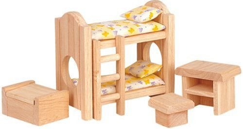 Plan Toy Doll House Children's Bedroom – Classic Style