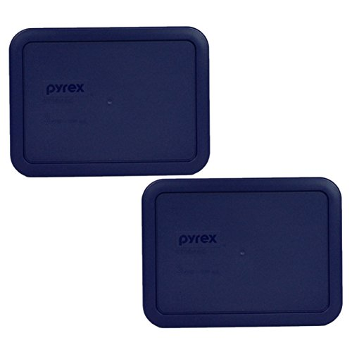 Pyrex 7210-PC Rectangle Dark Blue 3 Cup Storage Lid for Glass Dish (2, Dark Blue) (Replacement Pyrex Lid 2 Cup compare prices)