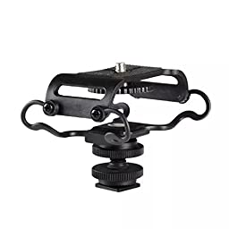 Goliton®Microphone Shockmount for Zoom H4n/H5/H6, for Sony Tascam DR-40/DR-05 Recorders